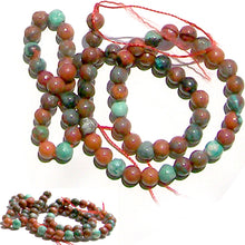 Load image into Gallery viewer, Rare Sonoran Sunrise Cuprite Mexico 6mm round stone beads - 7""