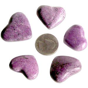 Rare Stichtite heart crystal healing reiki Chakra South Africa stone