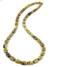 Load image into Gallery viewer, Rare Gaspeite Australian barrel ~9-10mm hand-cut genuine natural green brown stone st1 set #6 - 4 beads