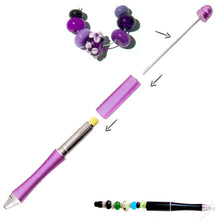 Load image into Gallery viewer, Ballpoint Metal Pen blue large 1.7+mm hole beads beadable diy craft