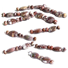 Load image into Gallery viewer, Rare Wild Horse beads Magnesite Arizona 10x14mm oval & 6mm rondelle stone random - 6 beads