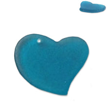 Load image into Gallery viewer, Cultured Sea Glass 30mm Heart focal pendant love bead - U PICK color