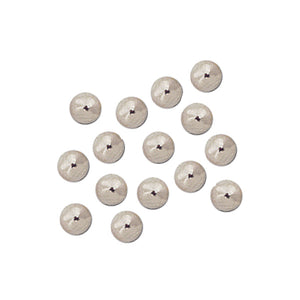 American Indian Hollow Metal Trade Beads Nickel, Brass & Copper round smooth