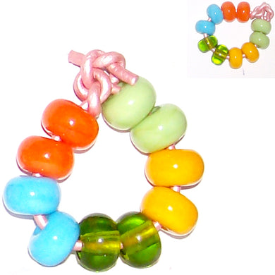 Artisan lampwork glass beads 11mm large 2mm hole spacer beads perfect for beadable pen set#2 - 10 beads