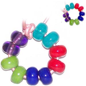 Artisan lampwork glass beads 11mm large 2mm hole spacer beads perfect for beadable pen set#3 - 10 beads