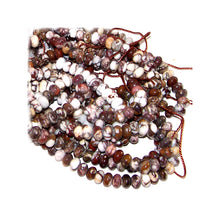 Load image into Gallery viewer, Rare Wild Horse Magnesite Arizona rondelles ~3.5-4mm brown white pinto stone beads - U PICK