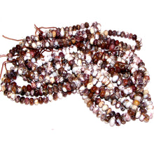 Load image into Gallery viewer, Rare Wild Horse Magnesite Arizona rondelles ~6mm brown white pinto stone beads - U PICK