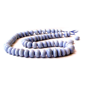 Rare Owyhee Blue Opal Oregon rondelle 9-10mm hand-cut stone - 5 beads