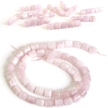 Load image into Gallery viewer, Rare Pink Kunzite beads Tri-Cut Tube Barrel hand-cut stone set #4 - 4 beads