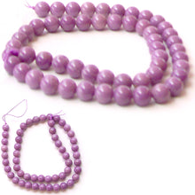 Load image into Gallery viewer, Rare Phosphosiderite Chile round orchid mauve 7-8mm AA stone - 6 beads