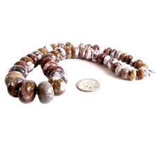 Load image into Gallery viewer, Rare Wild Horse Magnesite Arizona rondelle ~12-21mm graduated stone beads strand