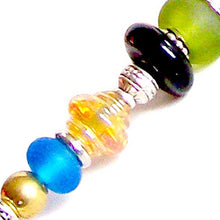 Load image into Gallery viewer, Artisan lampwork glass & metal large hole perfect for beadable pens #5 - 10 beads