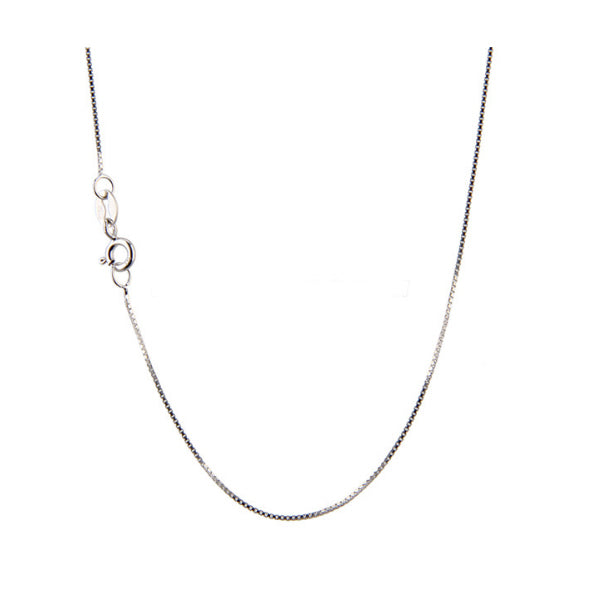 Chain: Sterling silver Italian 16-inch 0.7mm BOX jewelry necklace