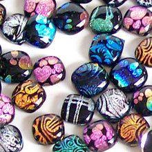 Load image into Gallery viewer, Artisan Dichroic glass cab 12mm square cabochon handmade U PICK quantity
