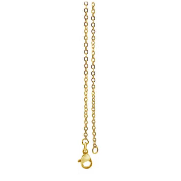 Chain: Gold-plated Cable ~22+