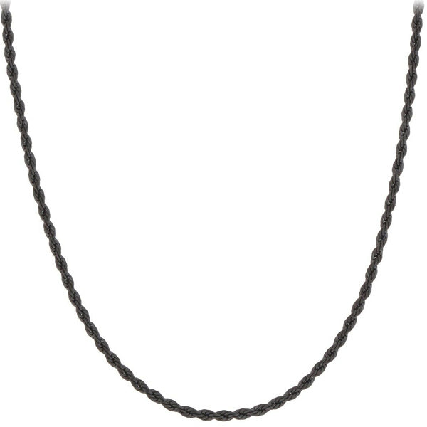 Chain: Black Gunmetal Rope ~16.5