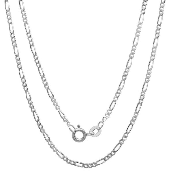 Chain: Silver-plated Figaroa ~20.5
