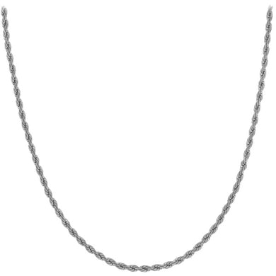 Chain: Silver-plated Rope ~16