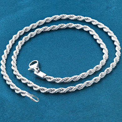 Chain: Silver-plated Rope ~17.25