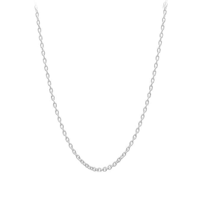 Chain: Silver-plated Cable ~17-18