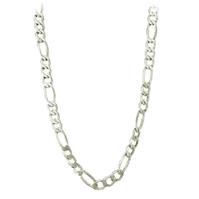 Chain: Silver-plated Figaroa ~19-20