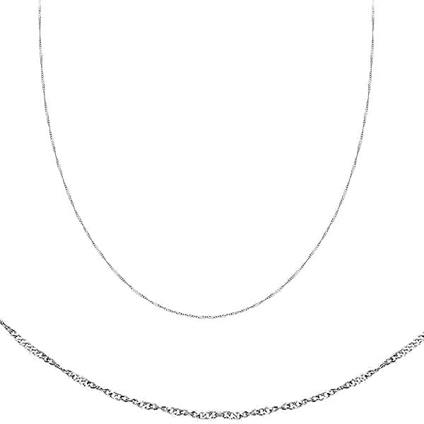 Chain: Silver-plated Twisted ~16.5