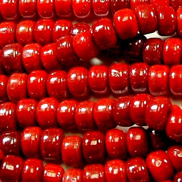 CROW beads 25 glass ~8-9mm large 2.5mm+/- hole | fit beadable pens | macrame | CRANBERRY RED