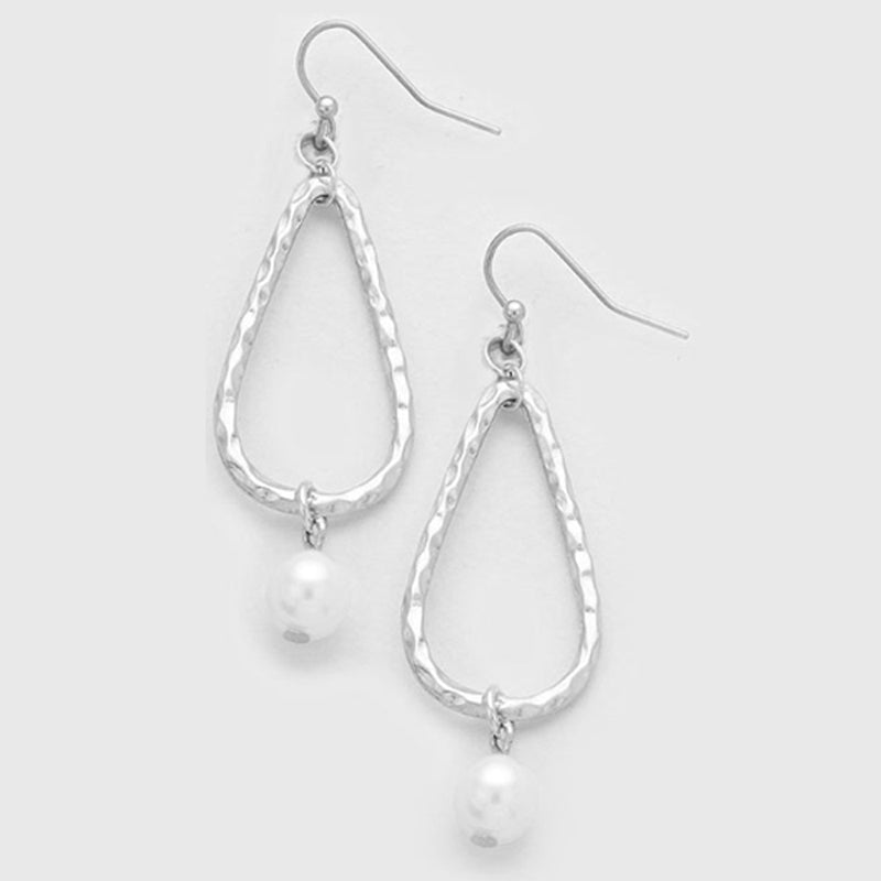 Silver- gold-plated earrings teardrop freshwater pearl dangles U PICK - 1 pair