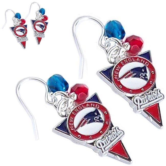 Artisan earrings Patriots Pats New England NE football charm dangles