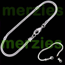 Load image into Gallery viewer, European-style bracelet add a bead 23cm silver charm large hole beads chain lobster clasp