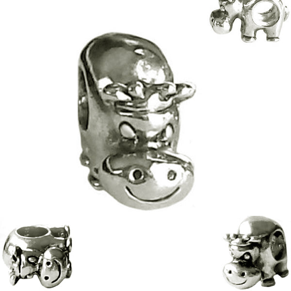 European 1 silver metal BULL farm animal wild spacer bead