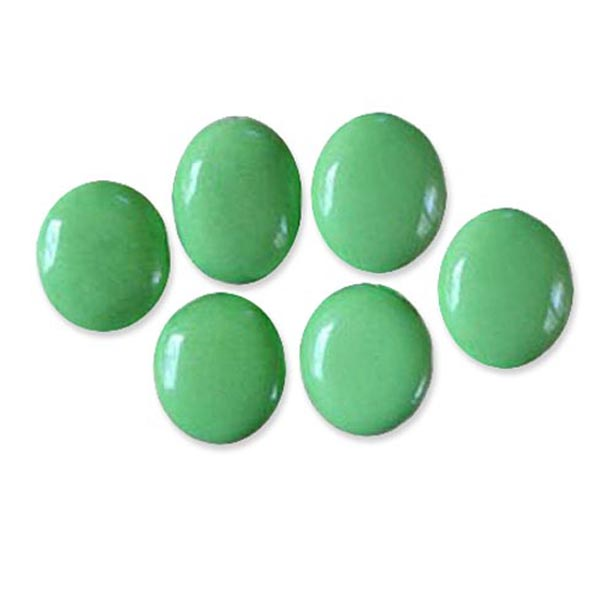 Semi-precious Green Turquoise 25x22mm oval stone focal - 1 bead