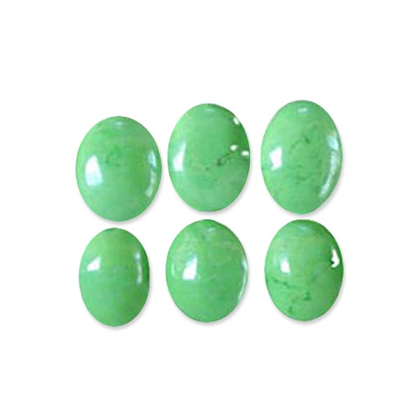 Semi-precious Green Turquoise 18x13mm oval stone focal - 1 bead