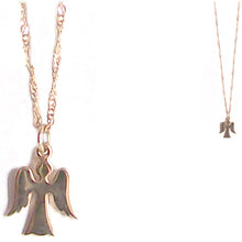 "Load image into Gallery viewer, Bronze Thai ANGEL charm pendant flat or with ~18"" 14kg over ss chain necklace U PICK"