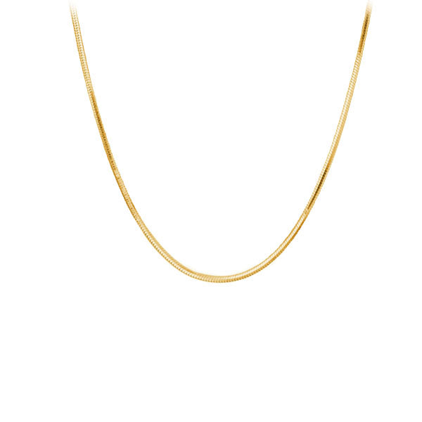 Chain: Gold-plated Snake ~17-18
