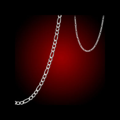 Chain: Silver-plated Figaroa ~29.5