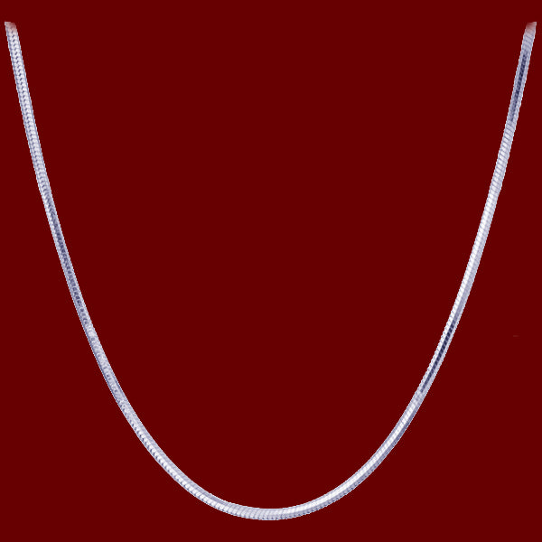 Chain: Silver-plated Snake ~11-1/8