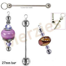 Load image into Gallery viewer, Bead-it beadable gold pendant: diy craft metal, removable end, add-a-bead holder