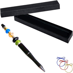 Ballpoint Acrylic Pen Black large 1.5+mm hole beads beadable add-a-bead diy gift