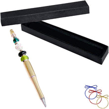 Load image into Gallery viewer, Ballpoint Acrylic Pen Gold light large 1.5+mm hole beads beadable add-a-bead diy gift