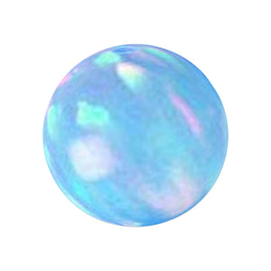 Rare Lab created Opal 4mm round fully drilled large ~1.2mm hole bead - Blue