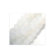 "Load image into Gallery viewer, Cultured sea glass 4mm round matte beach ocean seaglass beads 8"" strand"