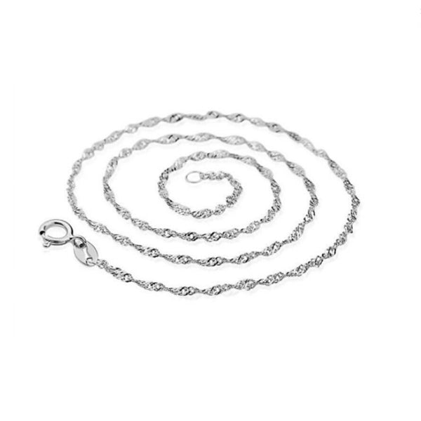 Chain: Silver-plated Water Wave ~17