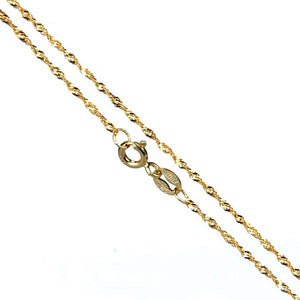 Chain: Sterling silver gold-plated Italian 16-inch WAVE 1mm jewelry necklace