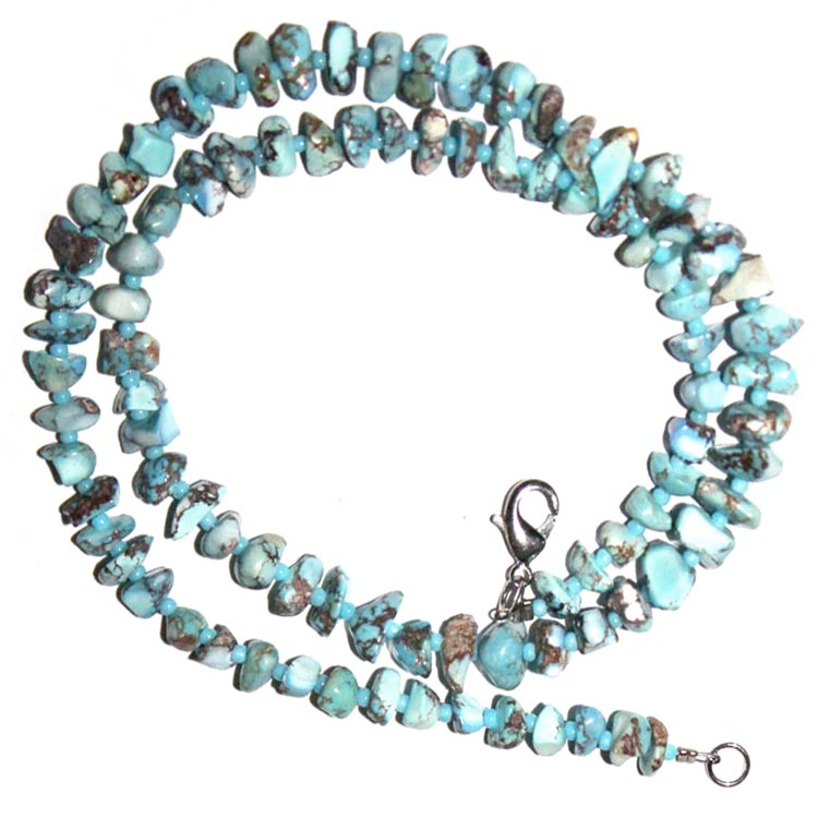 Rare Kazakhstan Turquoise Beads Necklace 16