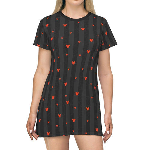 Webs and Ears Halloween T-shirt Dress