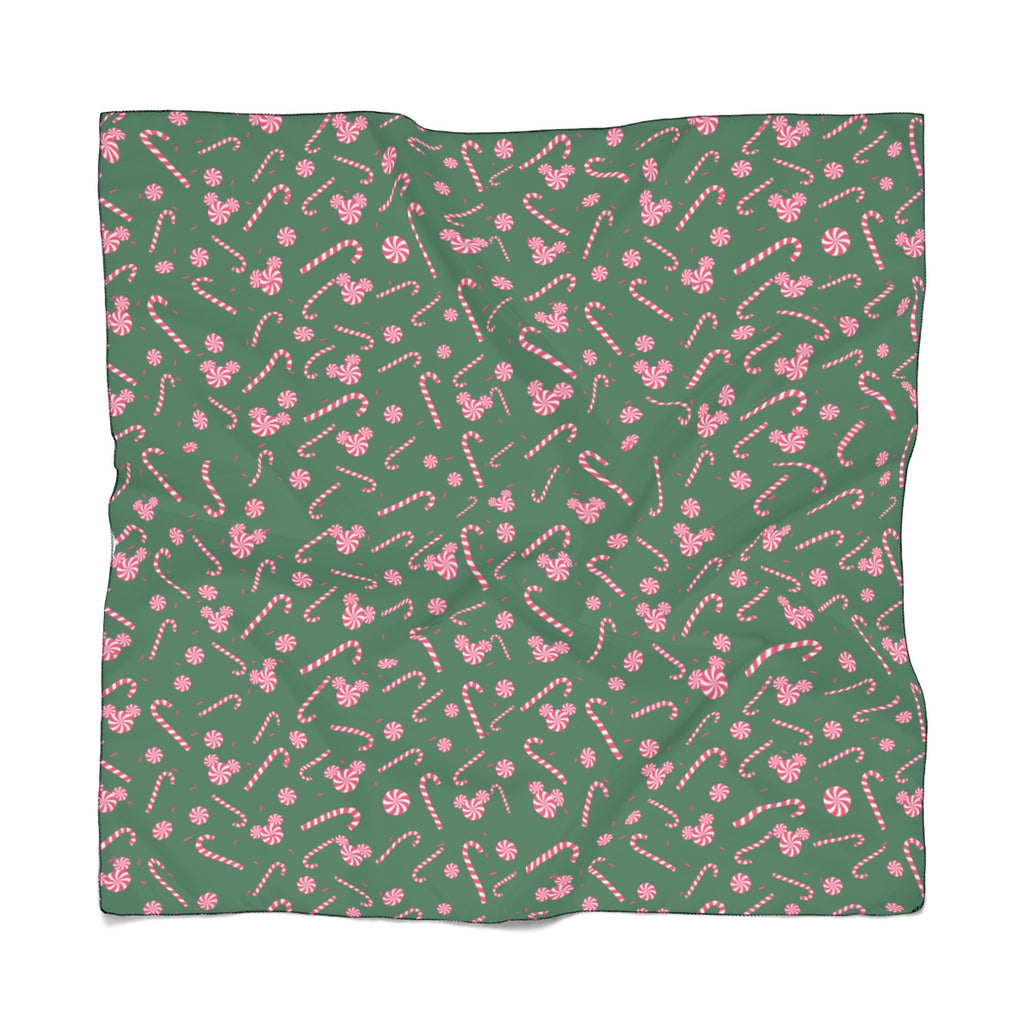 Green Candy Cane Poly Scarf