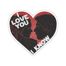 Load image into Gallery viewer, I Love You I Know Car Decal Sticker (Red)