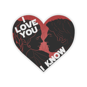 I Love You I Know Car Decal Sticker (Red)