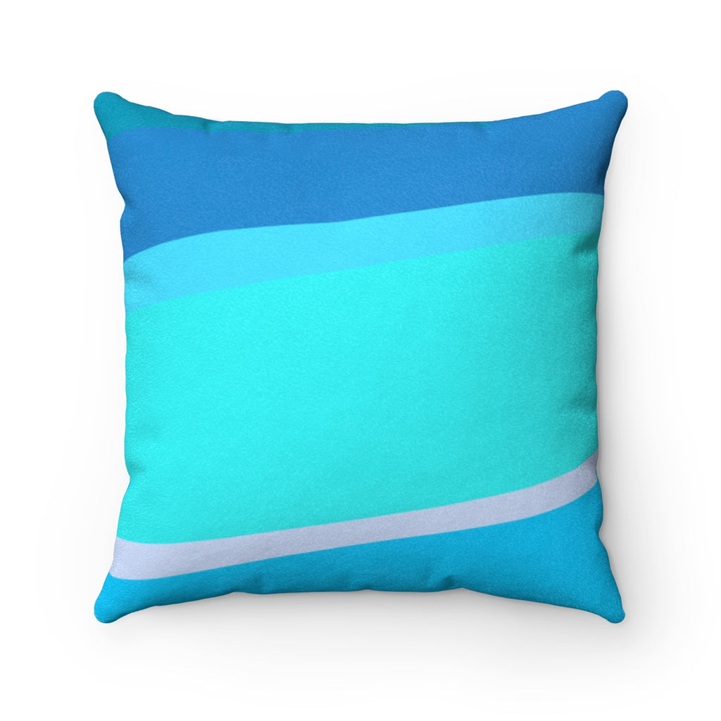 Toothpaste Wall Faux Suede Square Pillow
